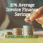 31% average cost savings found for invoice finance clients.