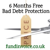New offer: 6 months free bad debt protection.