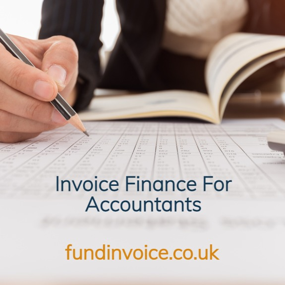 Factoring for an accountancy firm with poor sales ledger ageing.