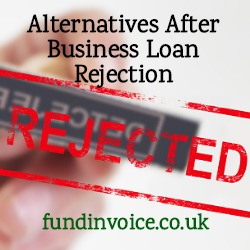 Alternatives if rejected for a Funding Circle business loan.