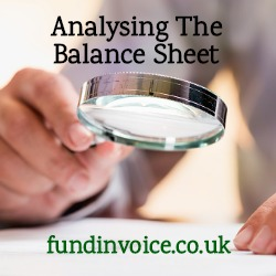 How I analyse the balance sheet of a company.