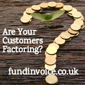 How to tell if customers and suppliers are using factoring.