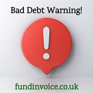 How to protect against bad debts following this warning.