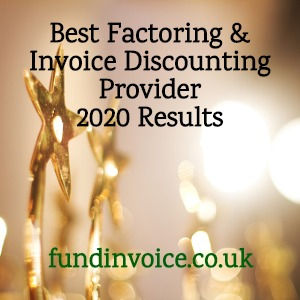 Business Moneyfacts Awards 2020 Best Factoring & Invoice Discounting Provider