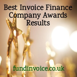 BMF Awards Results For Best Invoice Finance Company 2019.
