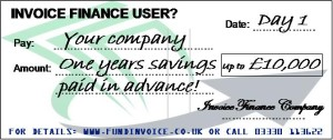 Invoice Finance Cost Savings Golden Hello