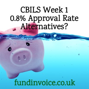 In week one only 0.8% of applicants for CBILS loans have been approved.
