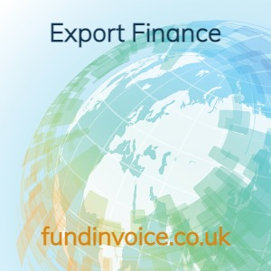 Export finance provided through invoice discounting and factoring.