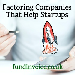 Which factoring companies are able to help fund new startup ventures?