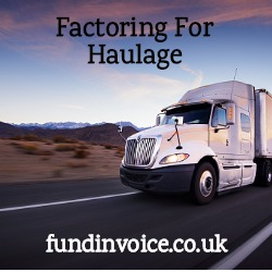 Factoring for a haulage startup run by a foreign national non homeowner.