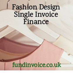Single invoice finance for a fashion designer to release cash from unpaid invoices.