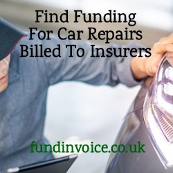 Find funding for car crash repairs billed to insurance companies.