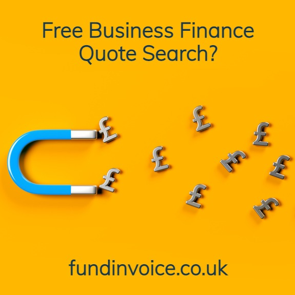 Get a free business finance quote search.