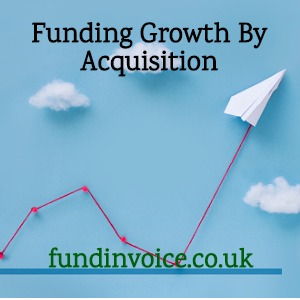 Using invoice funding to support growth by making a company acquisition.