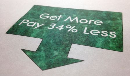Get More Pay 34 Percent Less