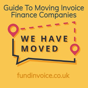 Support when switching invoice finance or factoring companies.