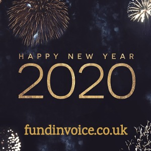 Glenn & Sean from FundInvoice wish you a Happy New Year 2020!