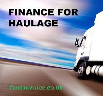 Transportation factoring for haulage and road transport companies