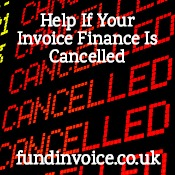 We may be able to help if your invoice finance company has cancelled your funding..
