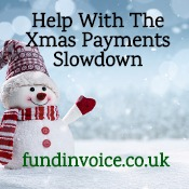 Help coping with the Christmas payments slowdown.