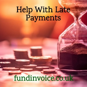 How easy is it to get help with late payments from customers.