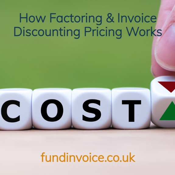 We explain how pricing works for factoring and invoice discounting.
