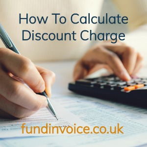 How to calculate discount charge fees and costs.