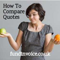 How to compare factoring and invoice discounting quotes