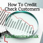 How to credit check customers before offering trade credit.