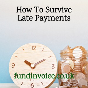 How can small businesses survive late payments?