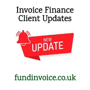 Delighted to receive monthly client updates from one invoice finance company.