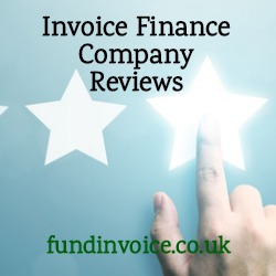 Reviews on Trustpilot, Feefo and Google about invoice finance companies.