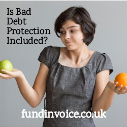 Is bad debt protection already included in your invoice finance quote?