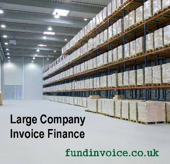 Invoice finance for large companies