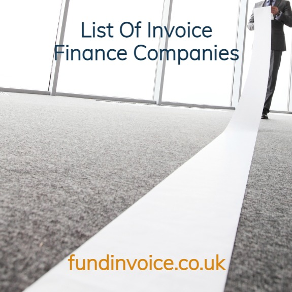 List of Invoice Finance Companies