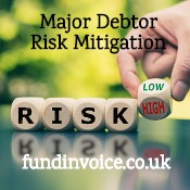 Ways of mitigating the risk from a major debtor.