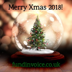 Merry Christmas 2018 from the team at FundInvoice business finance brokers.