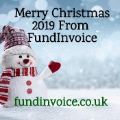 Merry Christmas 2019 from the team at FundInvoice.