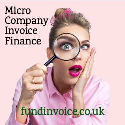 Invoice finance for small micro companies.