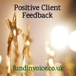 Positive client feedback from a recruitment company using select invoice finance.