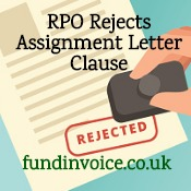 An RPO rejected part of a general notice of assignment letter.