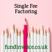 Single fee factoring with a one charge pricing structure.