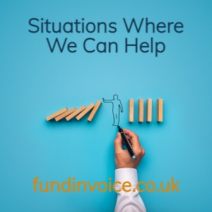 Situations where we can help finance your company.