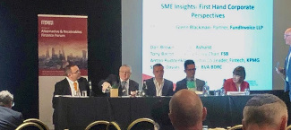 Glenn Blackman & The SME Insights panel at the Alternative & Receivables Finance Forum moderated by Glenn Blackman of FundInvoice