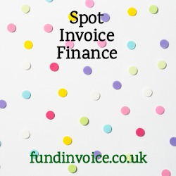 Spot invoice finance where you can select invoice to be prepaid.