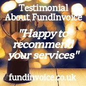 "Customer testimonial ""happy to recommend your services""."